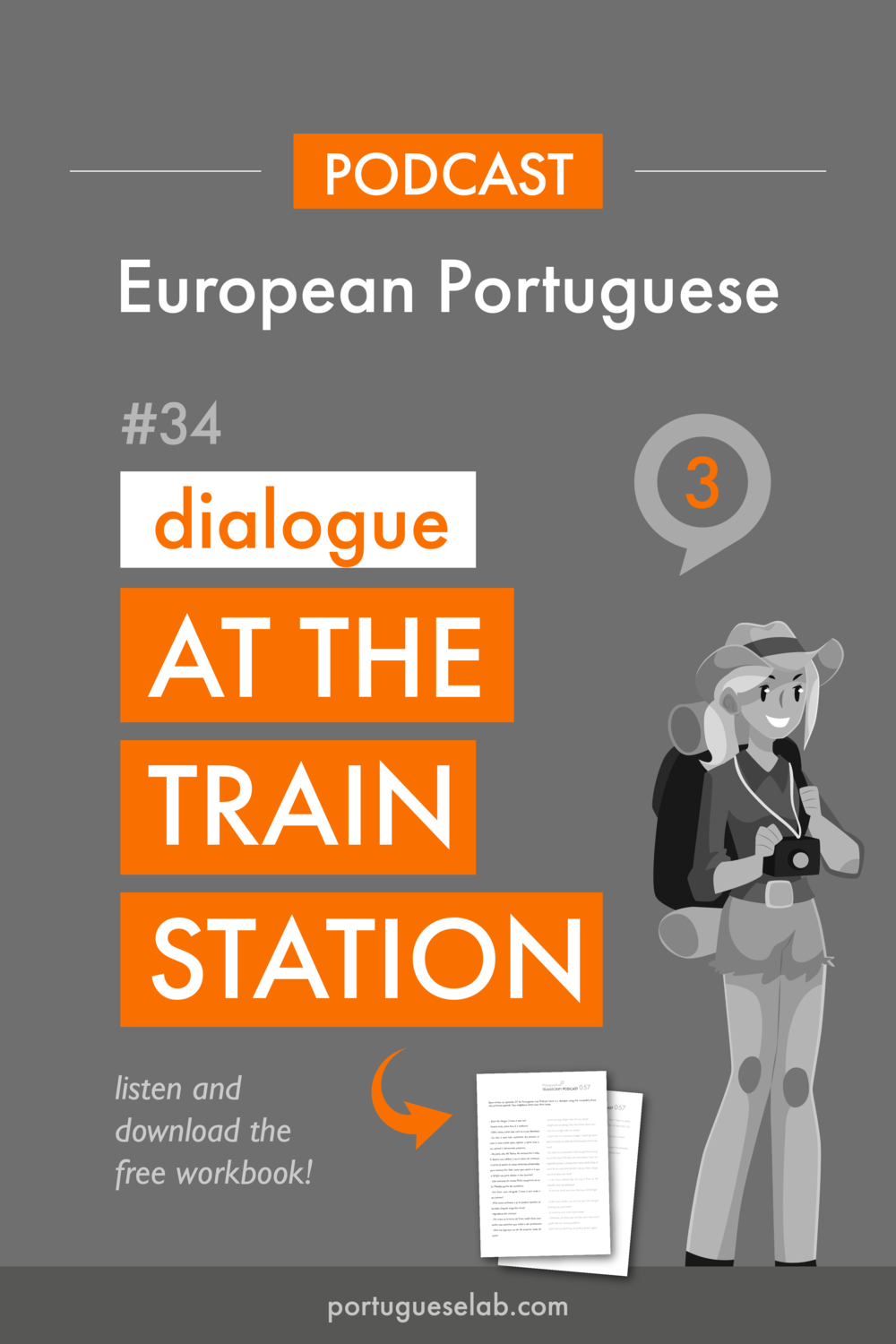 Portuguese Lab Podcast - European Portuguese - 34 - At the train station - dialogue.png