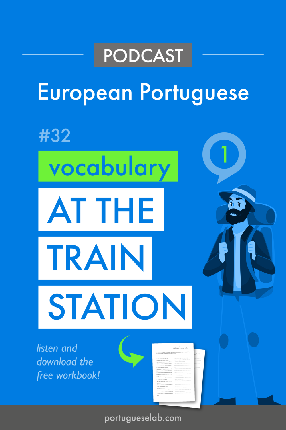 Portuguese Lab Podcast - European Portuguese - 32 - At the train station - vocabulary.png