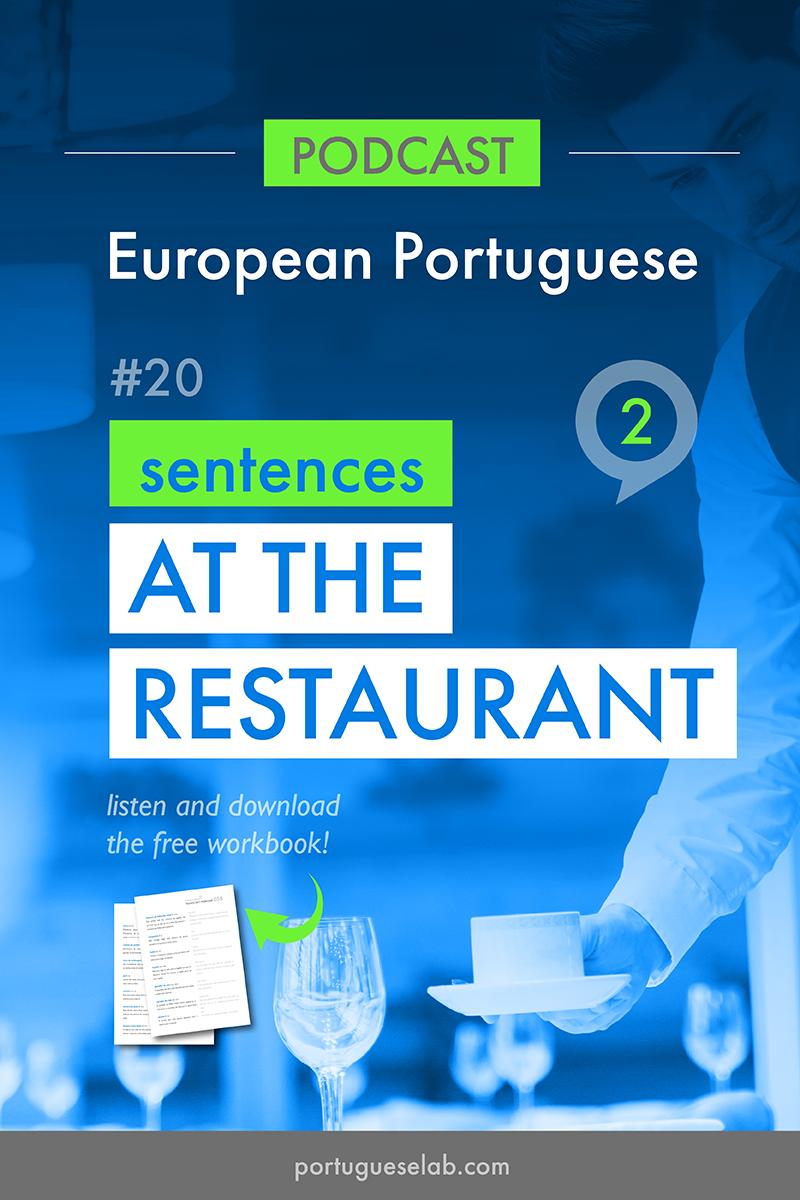 Portuguese Lab Podcast - European Portuguese - 20 - Sentences at the restaurant.png