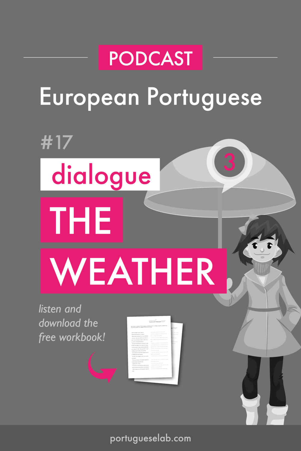 Portuguese Lab Podcast - European Portuguese - 17 - Dialogue about the weather.png