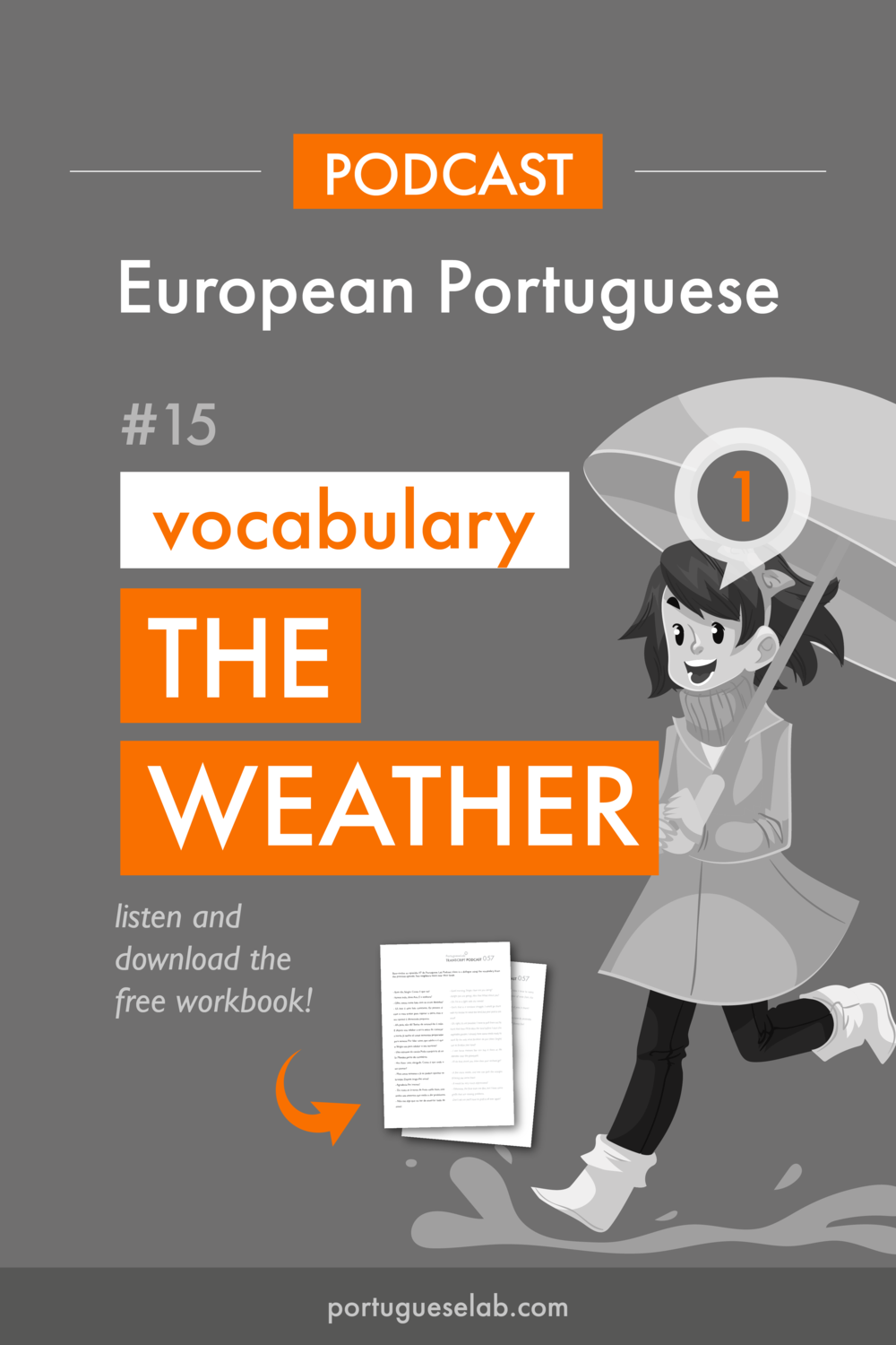 Portuguese Lab Podcast - European Portuguese - 15 - Vocabulary about the weather.png