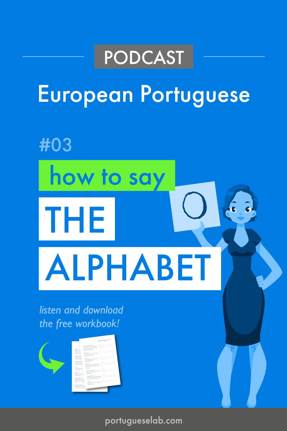 Portuguese Lab Podcast - European Portuguese - 03 - How to say the alphabet.png