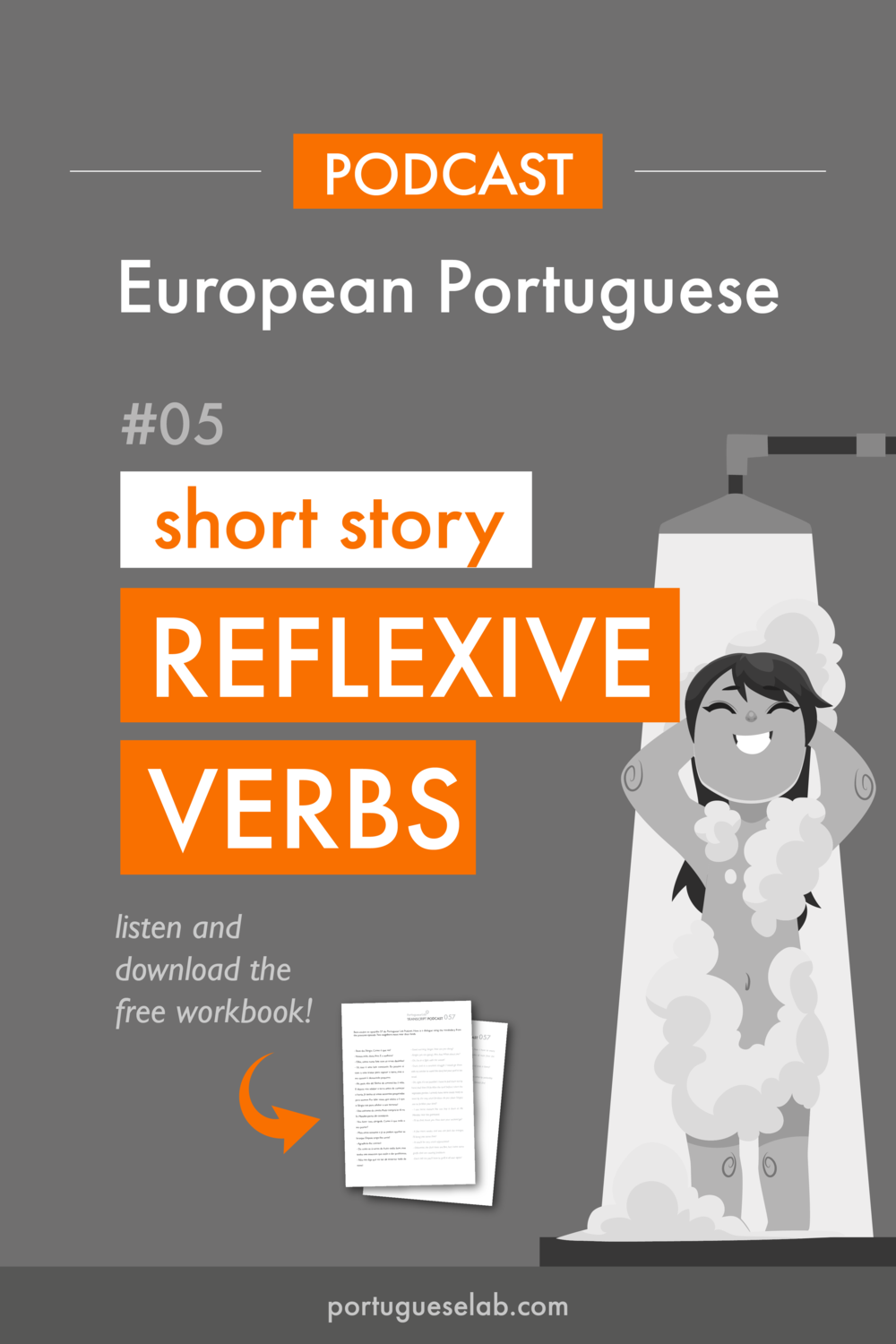 Portuguese Lab Podcast - European Portuguese - 05 - Short story - reflexive verbs.png