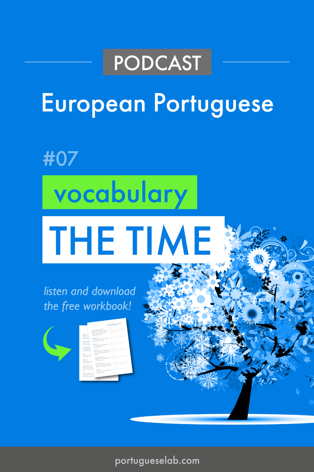 Portuguese Lab Podcast - European Portuguese - 07 - Vocabulary - The time.png