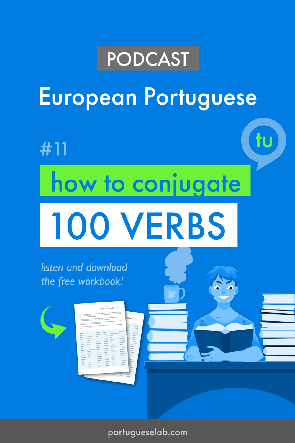 Portuguese Lab Podcast - European Portuguese - 11 - Verb conjugation - tu.png