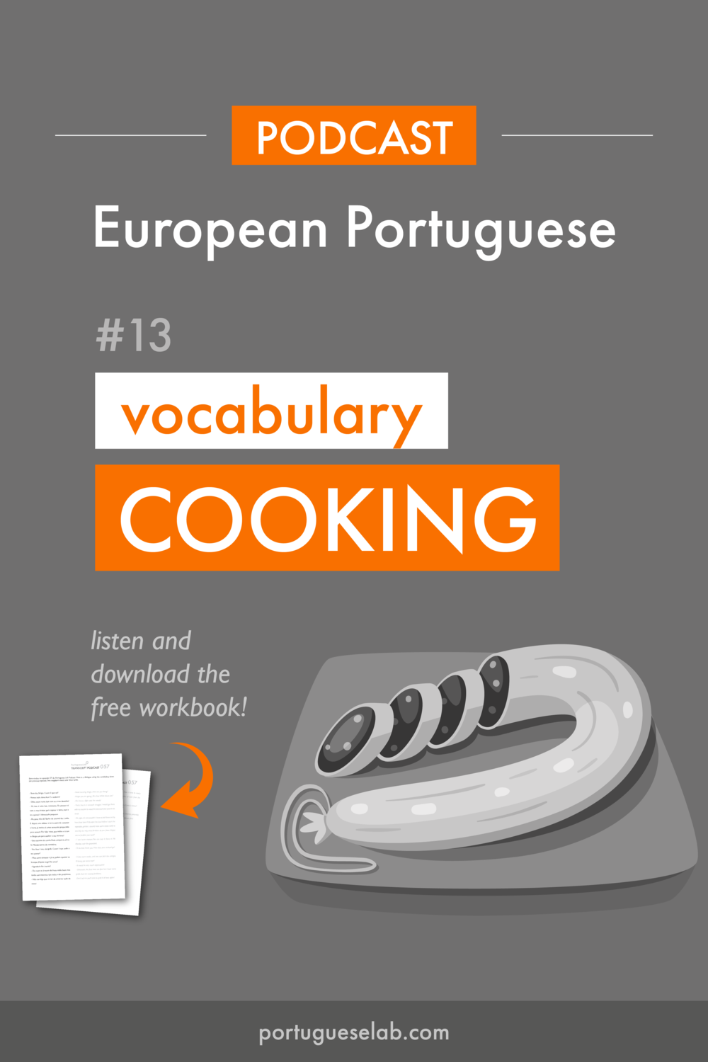 Portuguese Lab Podcast - European Portuguese - 13 - Sentences - Cooking.png