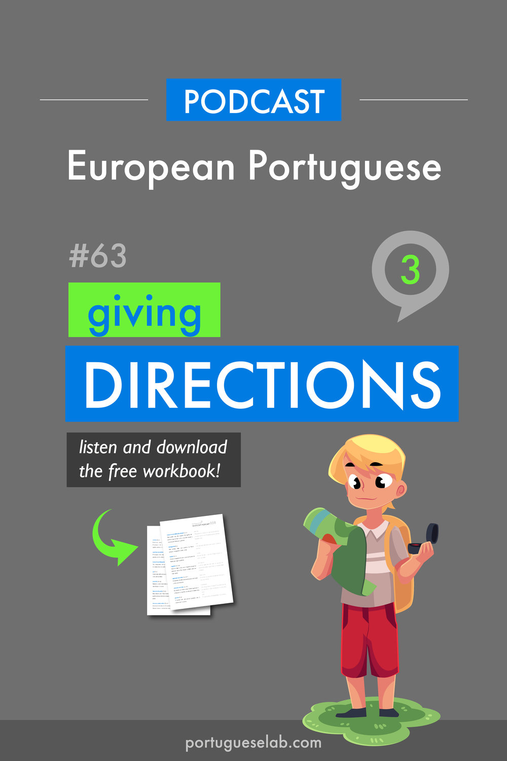 Portuguese Lab Podcast - European Portuguese - 63 - Giving directions.jpg