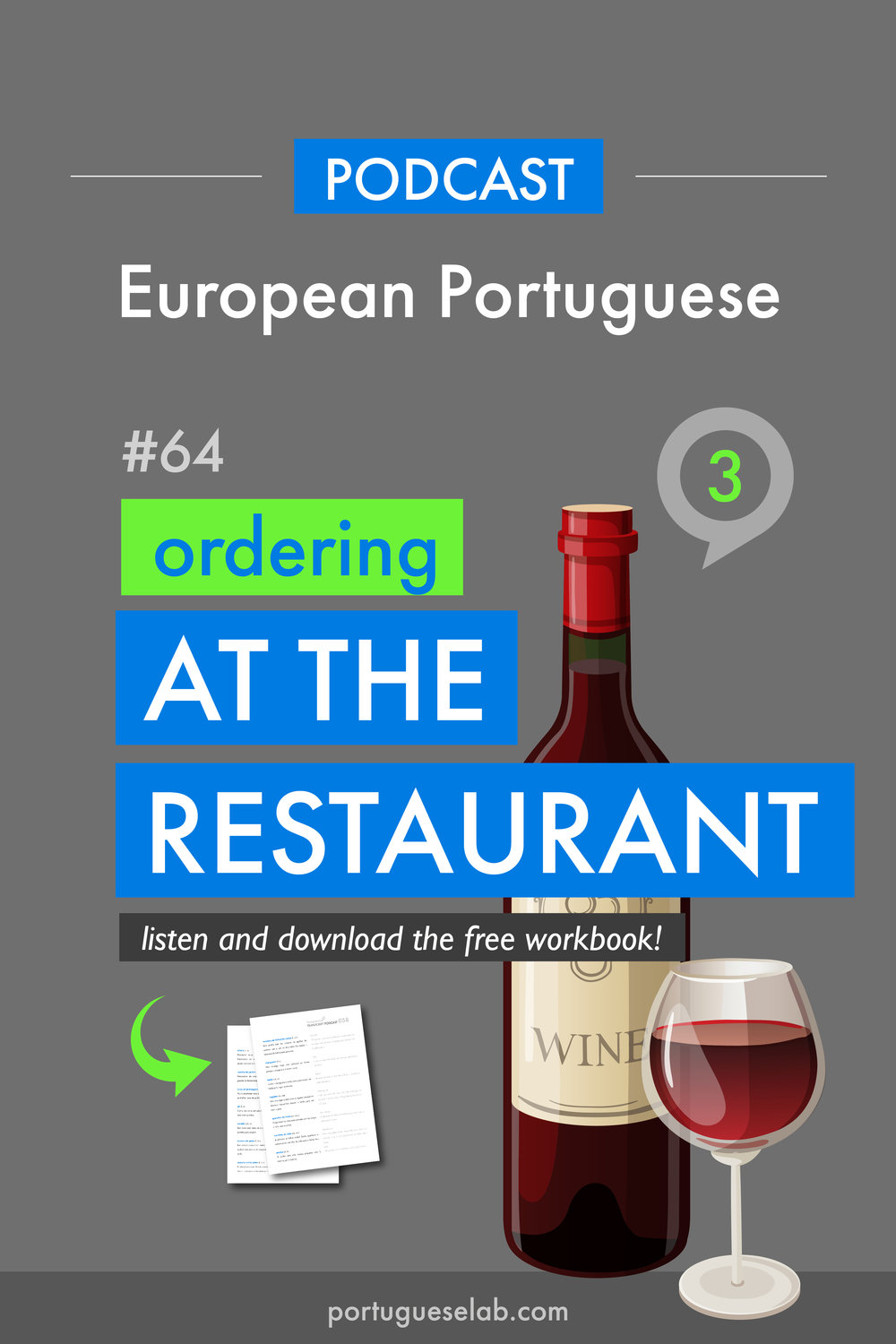 Portuguese Lab Podcast - European Portuguese - 64 - Ordering at the restaurant.jpg