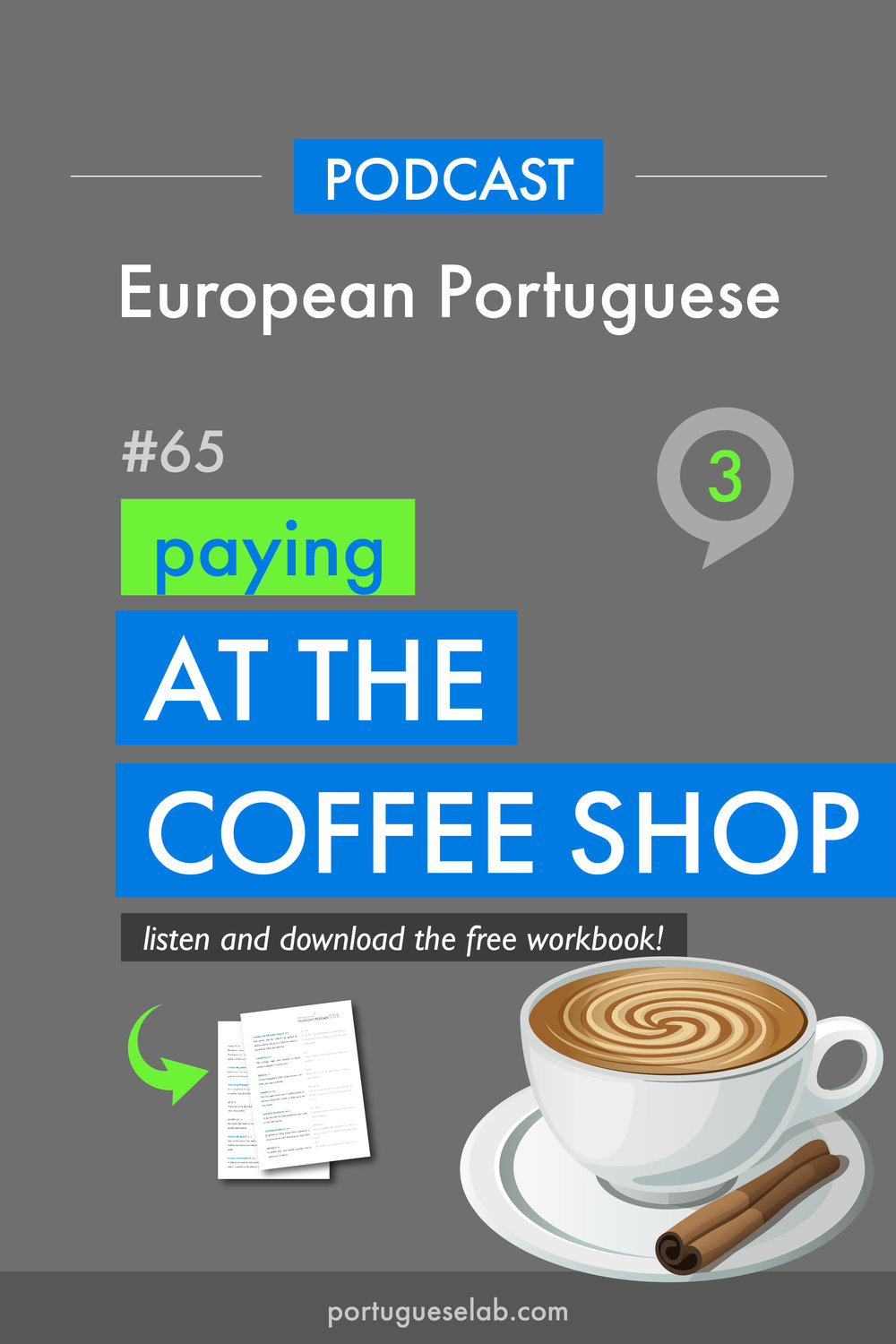 Portuguese Lab Podcast - European Portuguese - 65 - Paying at the coffee shop.jpg