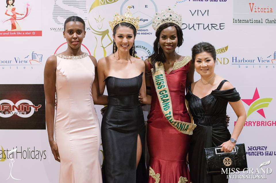 Lorraine Marriot (Miss Grand Tanzania 2014), Ariska Putri Pertiwii, Batuli Mohamed and Ms. Teresa Chaivisut