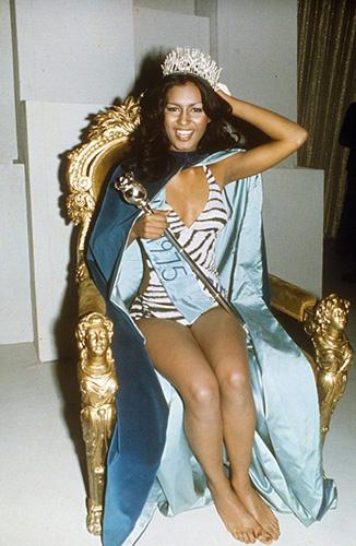 Wilnelia Forsyth when she won Miss World 1975