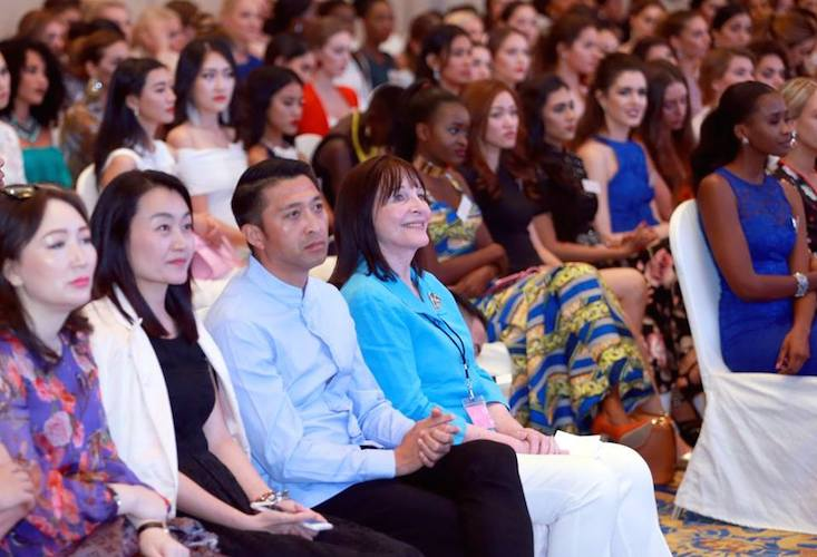 Miss World CEO, Julia Morley spoke at the event