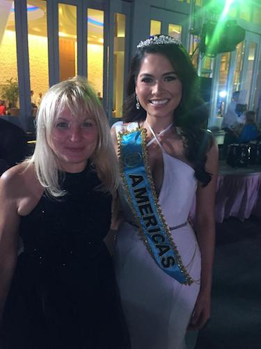 Vesna de Vinca and Miss Mexico