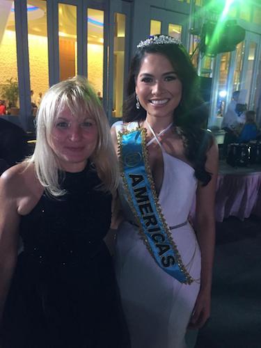 Vesna de Vinca and Miss Mexico