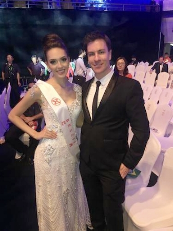 With Miss Brazil after the show