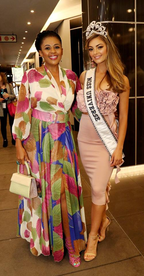 INSPIRATIONAL: Miss Universe meets Miss South Africa 1994 and Miss World runner-up, Basetsana Khumalo