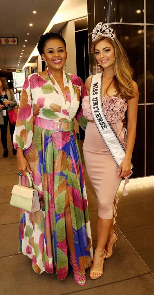 INSPIRATIONAL: Miss Universe meets Miss South Africa 1994 and Miss World runner-up, Basetsana Khumalo