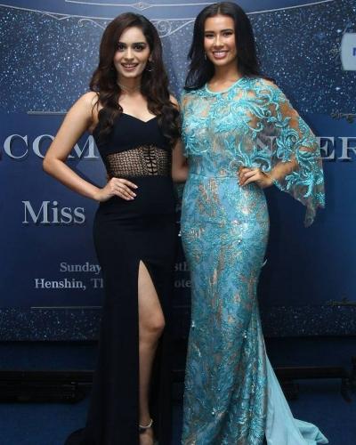 Manushi Chhillar and Miss Indonesia 2017, Achintya Nilsen