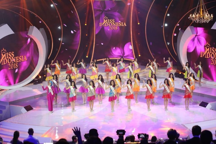 The 34 young women competing for the Miss Indonesia 2018 crown