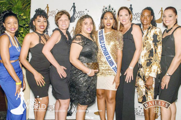Miss Cayman Islands 1992, Pamela Ebanks-Small (third from the right) is the new territorial director for Miss World in the Cayman Islands