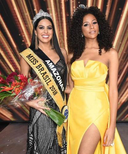 Mayra Dias, Miss Brazil Universe 2018, and Monalisa Alcântara, Miss Brazil Universe 2017 and Top 10 semi-finalist in Miss Universe.