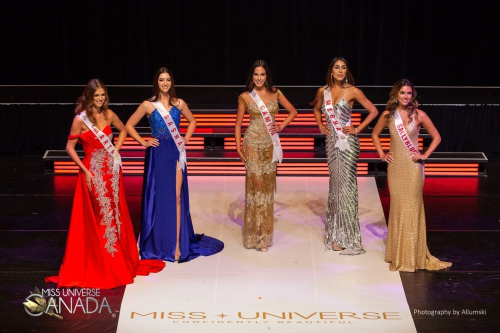 Marta Stepien (far left) is the new Miss Universe Canada. Camila Gonzalez (center) is expected to go to Miss International
