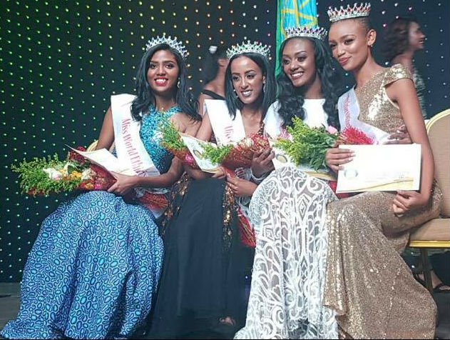 From left to right: Ethiopia for Miss World, Miss International, Miss Grand International and Miss Intercontinental.