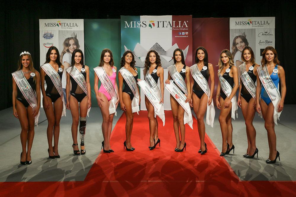 Miss Italia 2018: special prize winners.