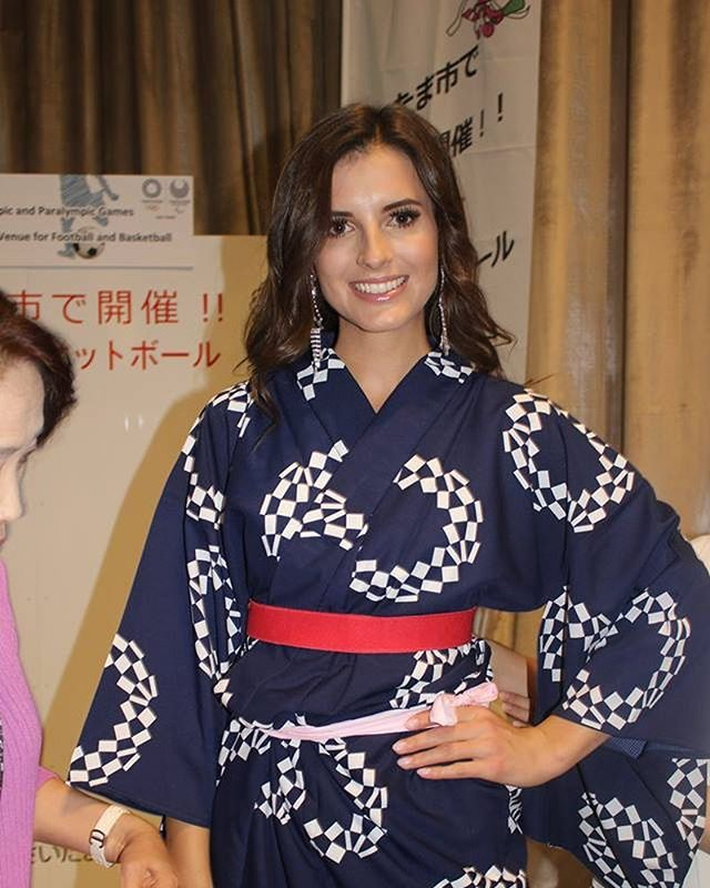 @martapalucka from #poland in a special #tokyo2020 inspired #kimono @miss.polski @missinternationalofficial #missinternational