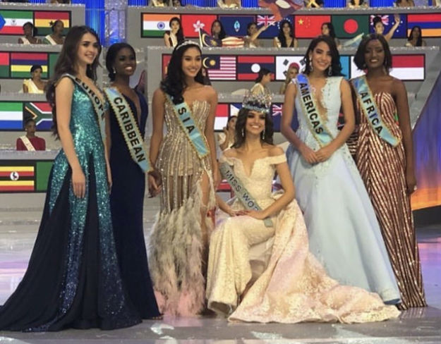 Miss World (Mexico) and the continental queens: Europe (Belarus), Caribbean (Jamaica), Asia (Thailand), Americas (Panama) and Africa (Uganda). New Zeland won in Oceania.