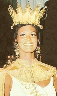 The actual Miss World 1970, beautiful Jennifer Hosten, of Grenada.