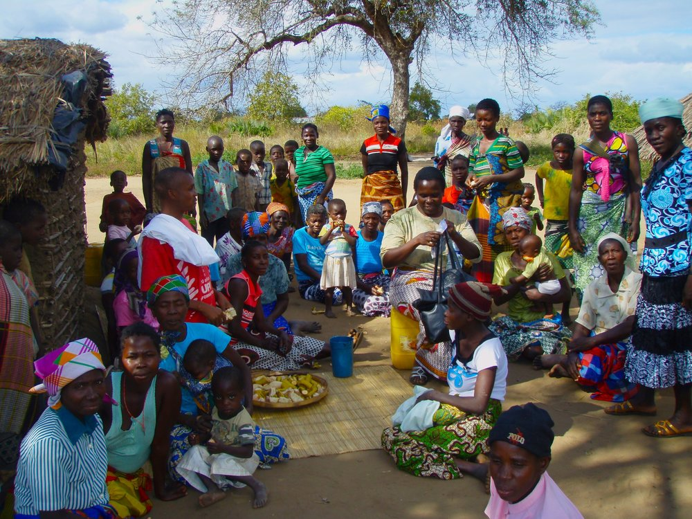 The community we work with in Mucambe Feha. a remote village in Mozambique. They have gathered here for a health fair, to get tested and treated for a variety of diseases.