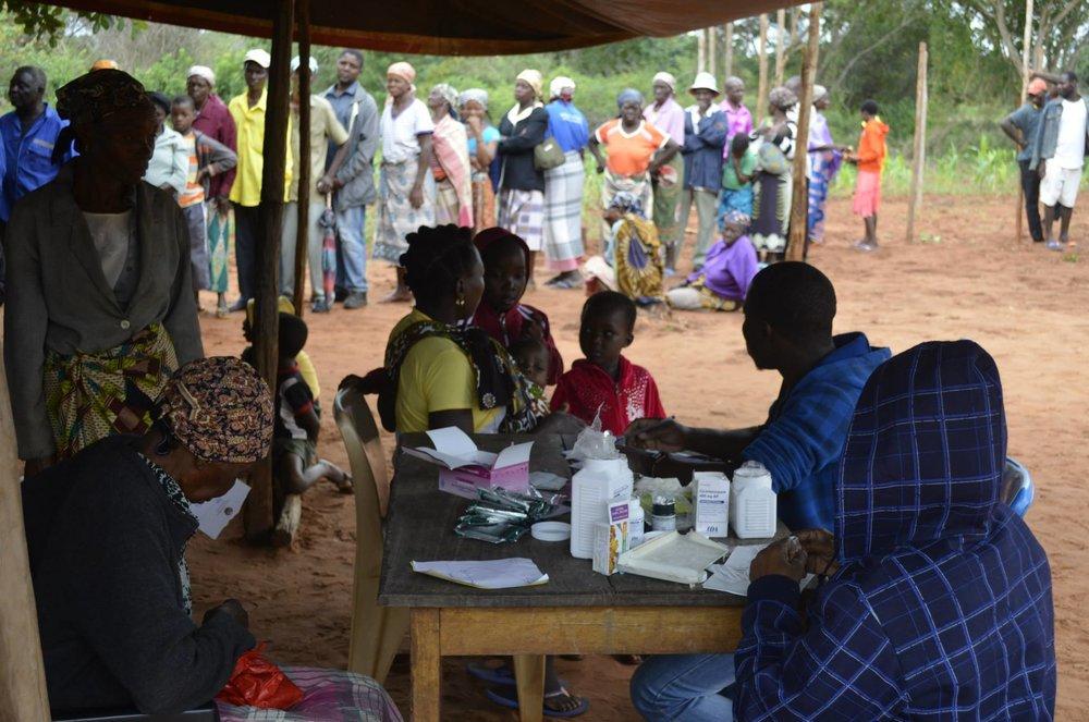 A health fair at the Nhamaxaxa community