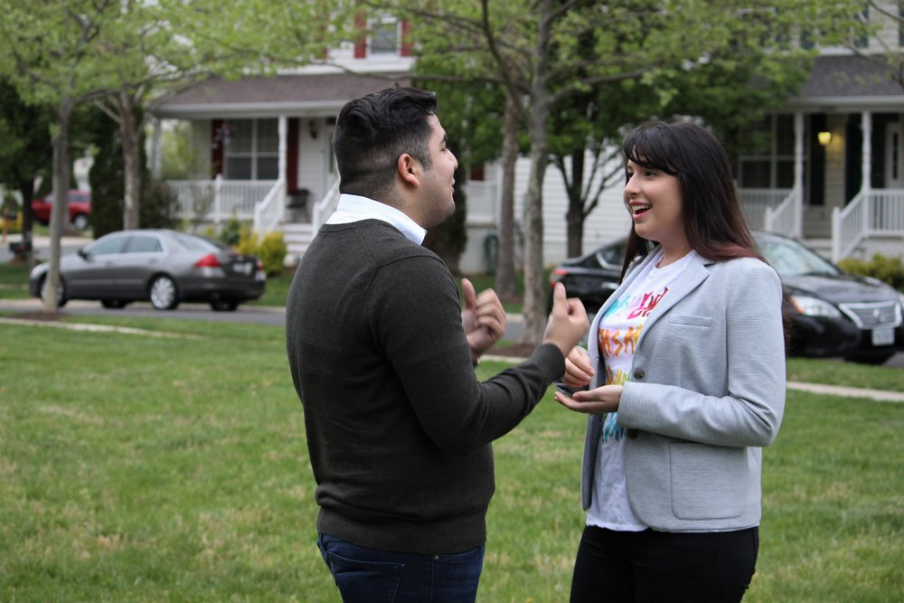 """""""Hannah Risheq won't be the first Jewish-American in politics, nor is she the first Muslim-American running for office. But the 25-years old Virginian now seeking a seat on the State House of Delegates, is likely the first to run as a Muslim-Jewish candidate...."""" By Nathan Guttman"""