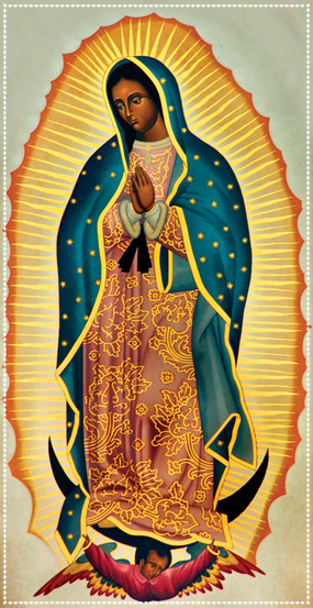 Our Lady of Guadalupe / Nuestra Señora de Guadalupe Med sin dubbelbottnade identitet...