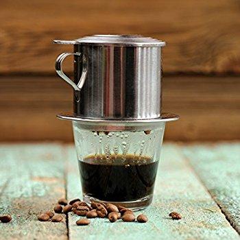 Vietnamesiskt kaffe och ett phin filter.