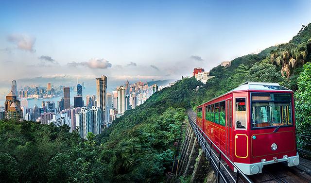 Reach to The Peak Hong Kong with peak tram.jpg