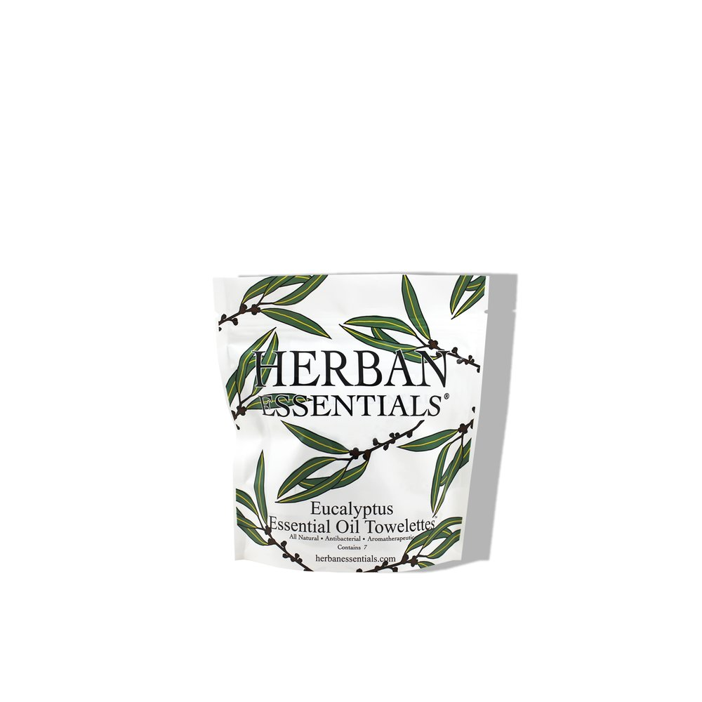 Herban Essentials   Eucalyptus Essential Oil Multi-Use Towelettes  £7.00