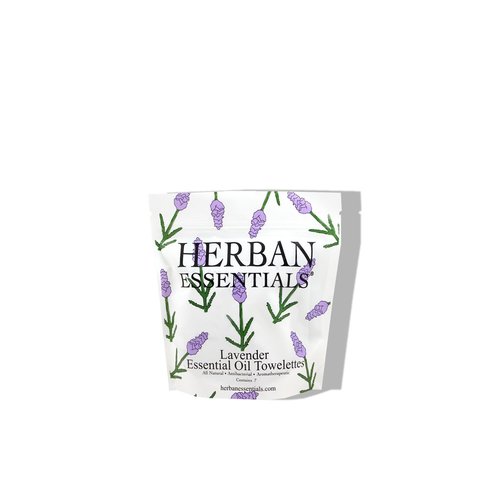 Herban Essentials    Lavender Essential Oil Mulit-use Towelettes   £7.00