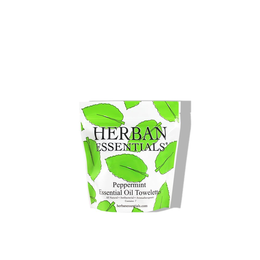 Herban Essentials Peppermint Essential Oil Mulit-use Towelettes  £7.00