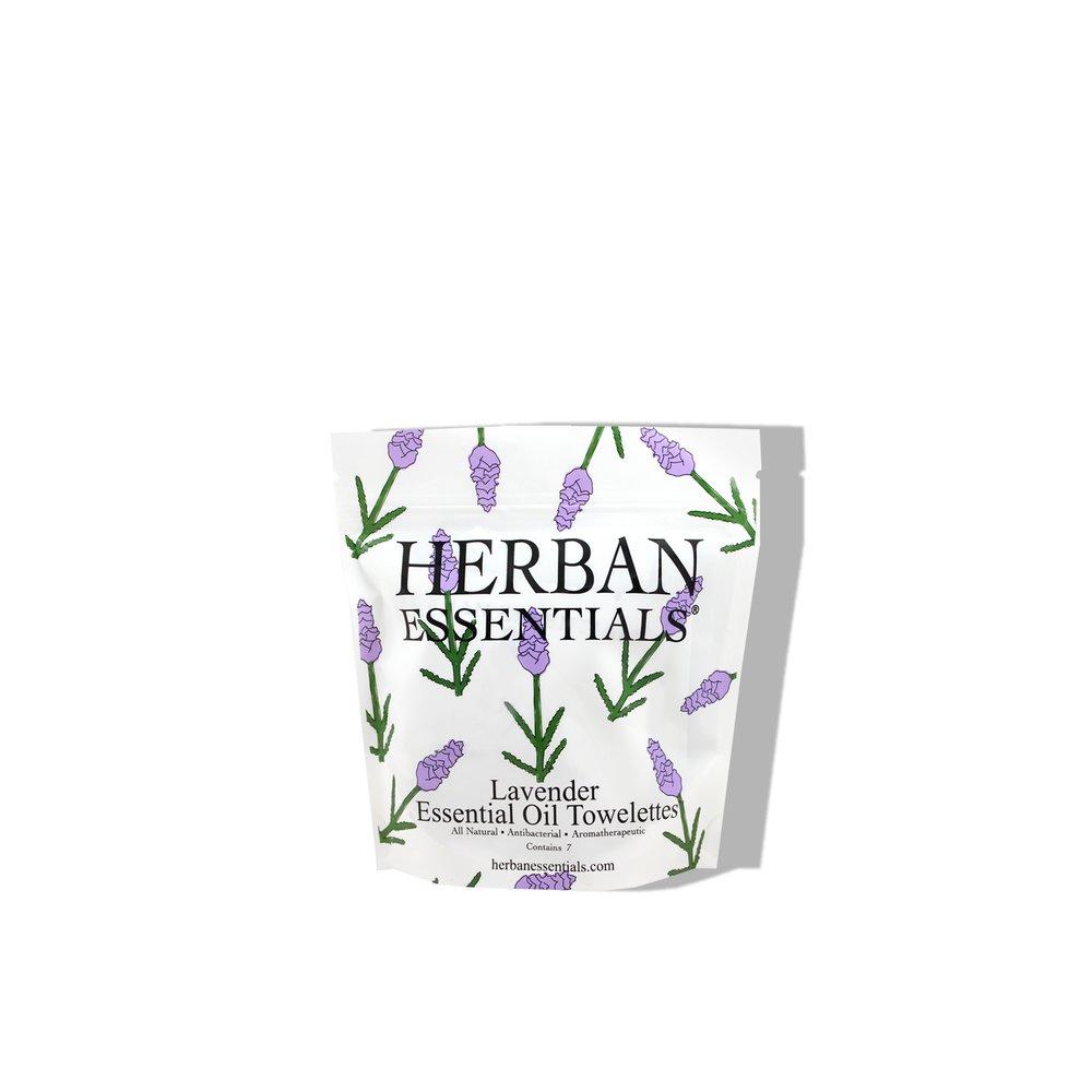 Herban Essentials    Lavender Essential Oil Towelettes