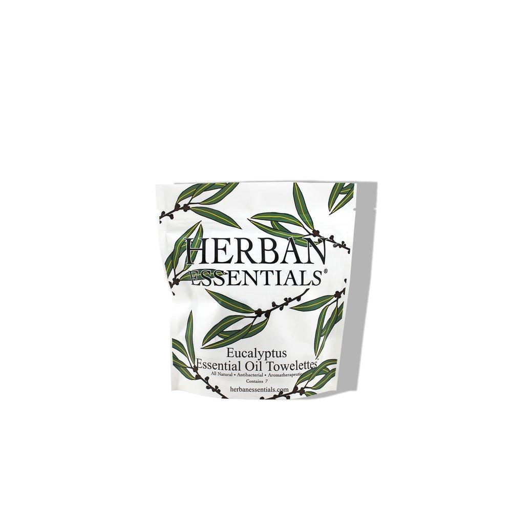 Herban Essentials Eucalyptus Essential Oil Multi-use Towelettes £7.00