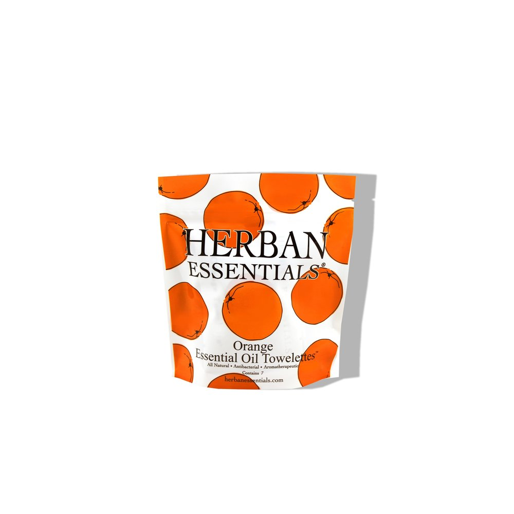 Herban Essentials Orange Essential Oil Multi-use towelettes £7.00