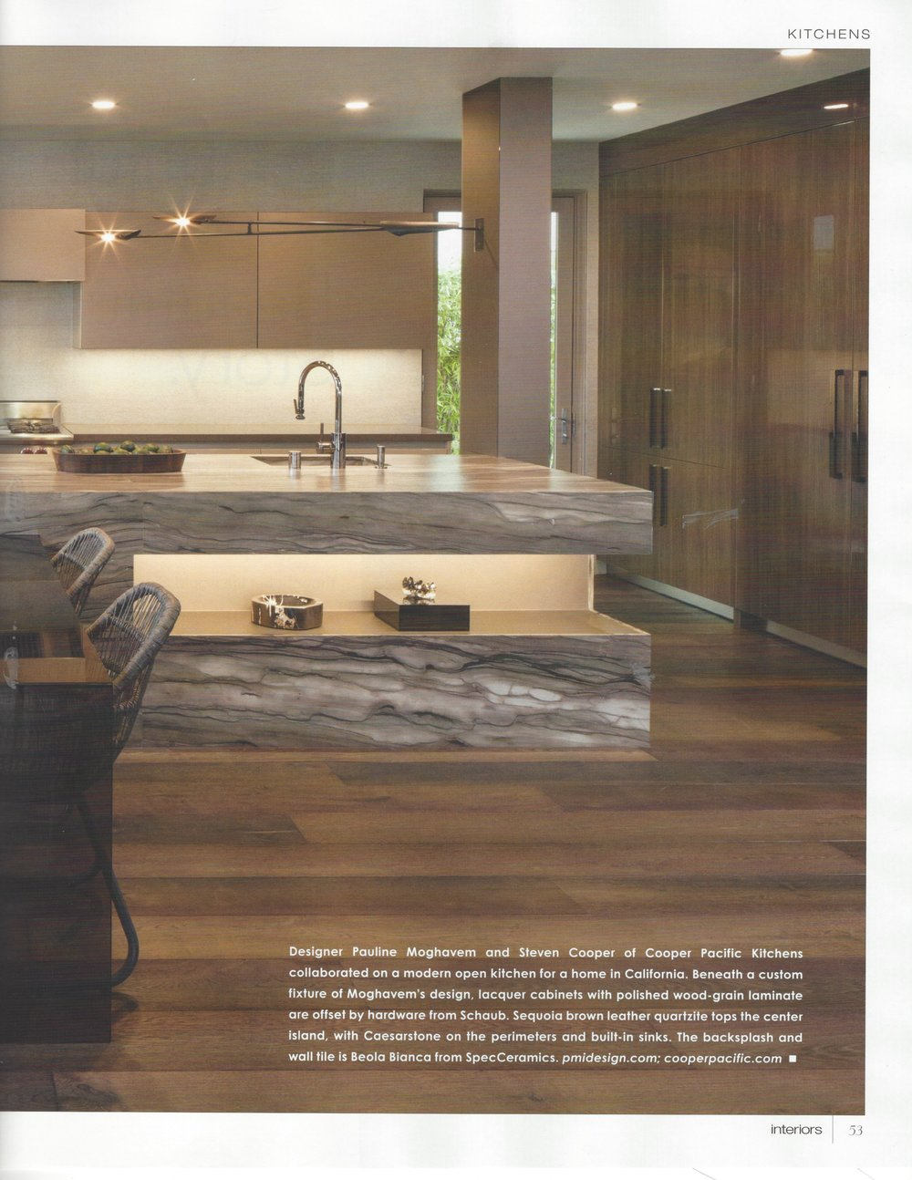For The Digital Edition, Please See: Http://interiorsmagazine.com/