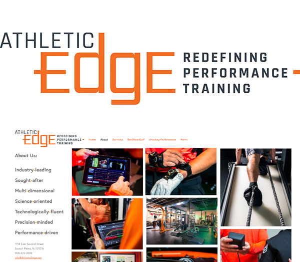 - Athletic Edge operates around a philosophy and a practice: that improvement within the sport of hockey—no matter the level—will be attained when science and fitness are brought together with intelligence, purpose and strategy.This involves coordinated physical/technological analyses as a starting point, multi-dimensional program design as a road map, and detail-oriented assessments along the way.