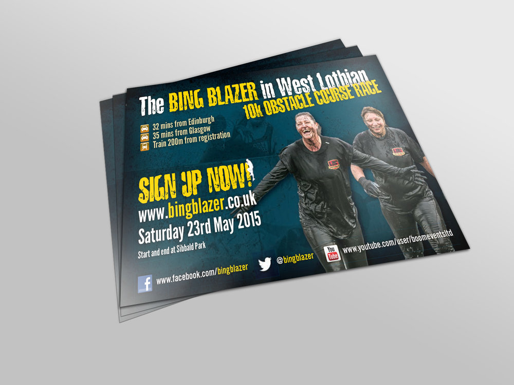 1000 double-sided A5 flyers: £90 - Includes design, print and delivery.