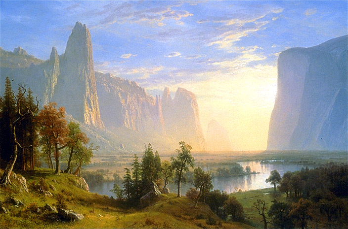 from the Hudson River School, circa 1860, Albert Bierstadt