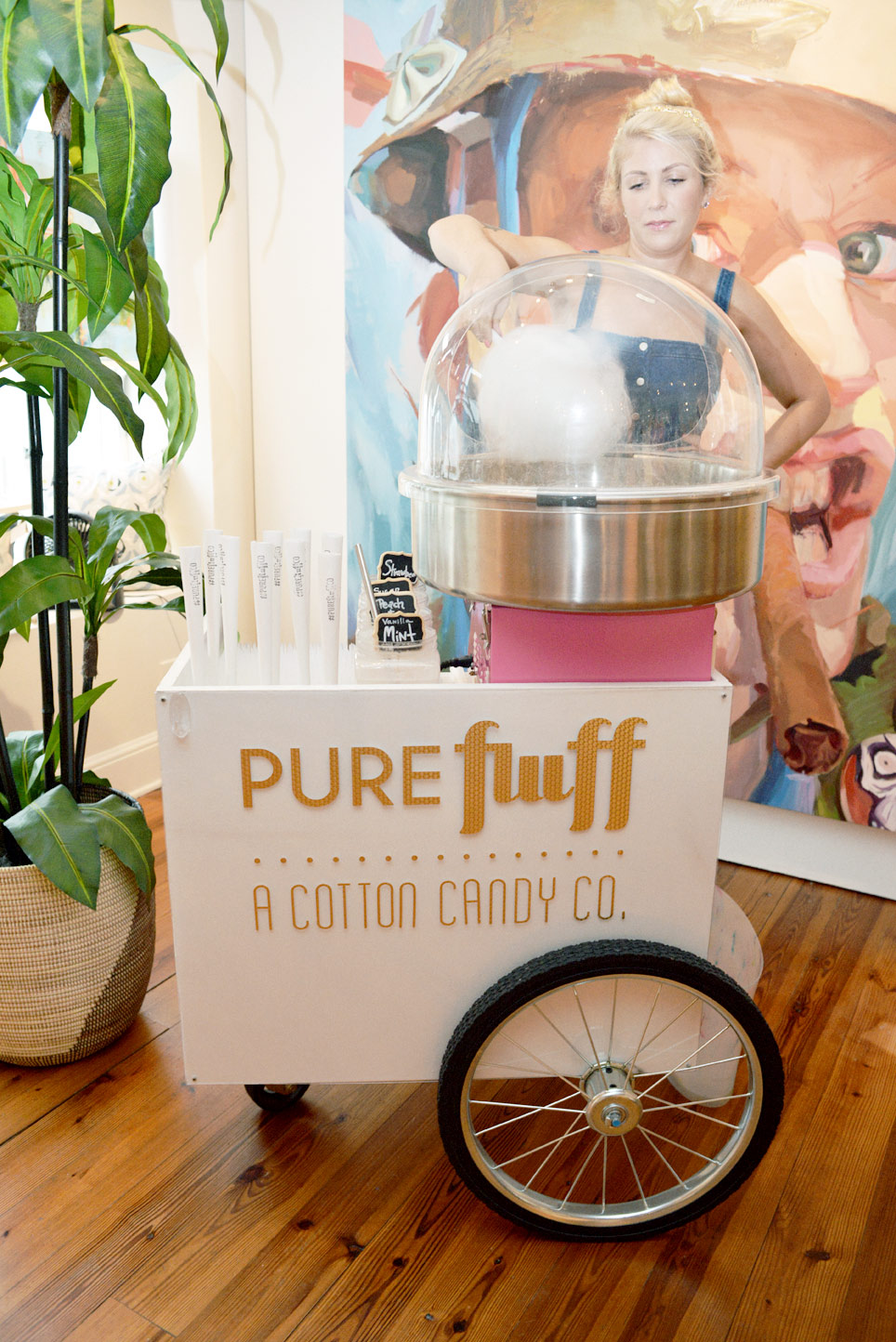 Pure Fluff spun cotton candy for us and it even made into the cocktails! Hello, Flufftail!