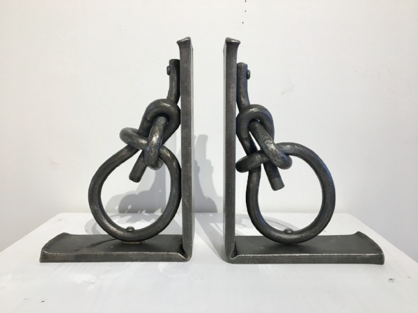 locally forged iron bookends by JP Shepard, $500