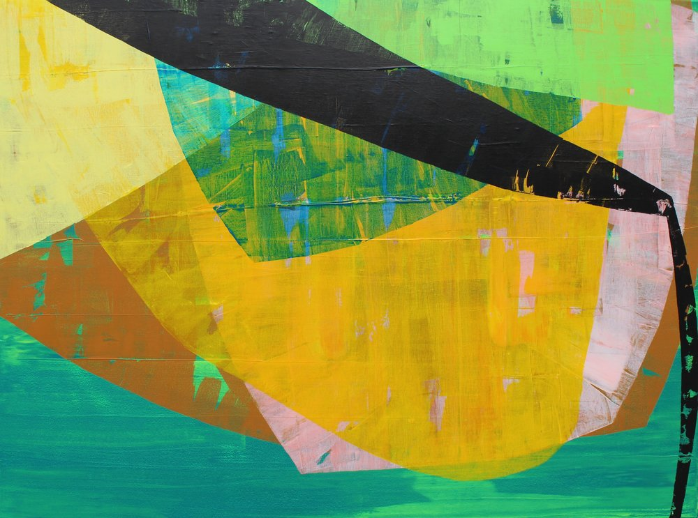 """Beneath the Surface - 36"""" x 48"""" Acrylic on canvas$2400"""